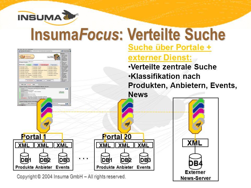 InsumaFocus: Verteilte Suche