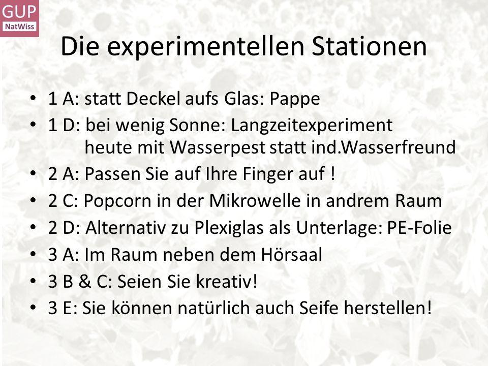 Die experimentellen Stationen