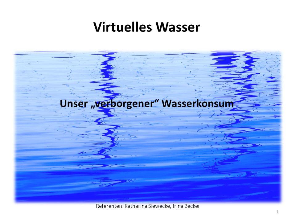 """Unser """"verborgener Wasserkonsum"""
