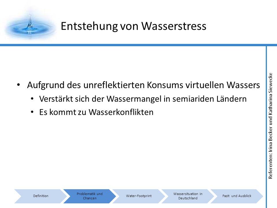 Entstehung von Wasserstress