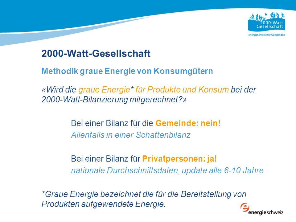 2000-Watt-Gesellschaft Methodik graue Energie von Konsumgütern