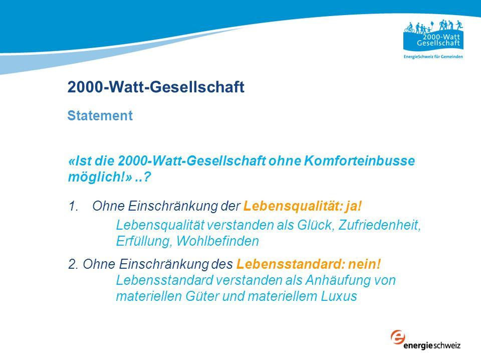 2000-Watt-Gesellschaft Statement