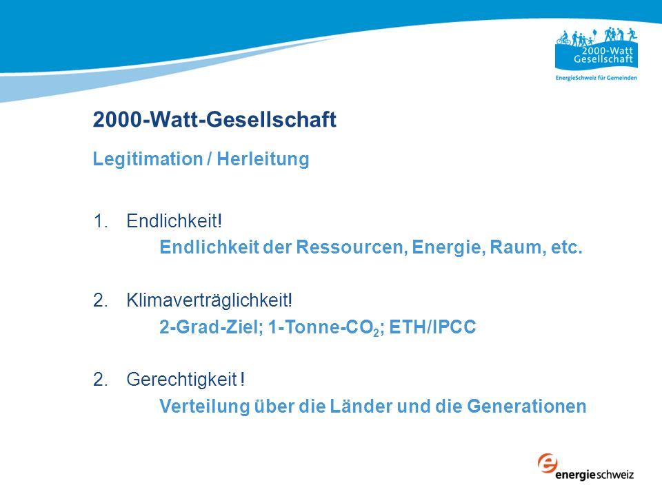 2000-Watt-Gesellschaft Legitimation / Herleitung Endlichkeit!