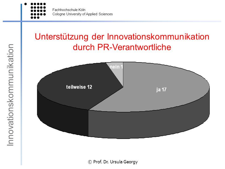 Unterstützung der Innovationskommunikation durch PR-Verantwortliche
