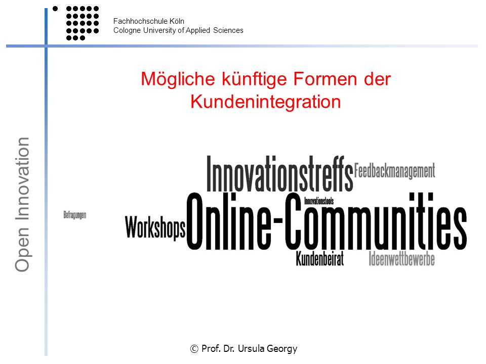 Mögliche künftige Formen der Kundenintegration