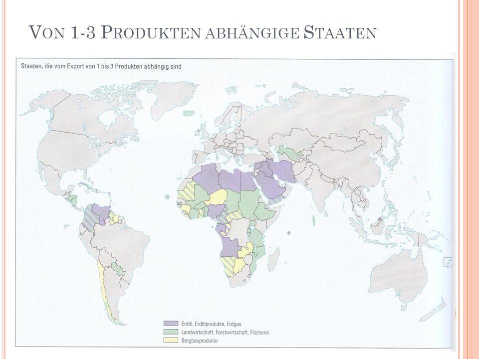 Von 1-3 Produkten abhängige Staaten