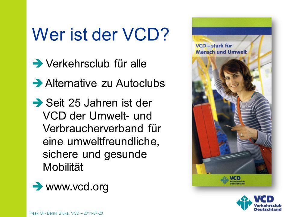 Wer ist der VCD Verkehrsclub für alle Verkehrsclub für alle