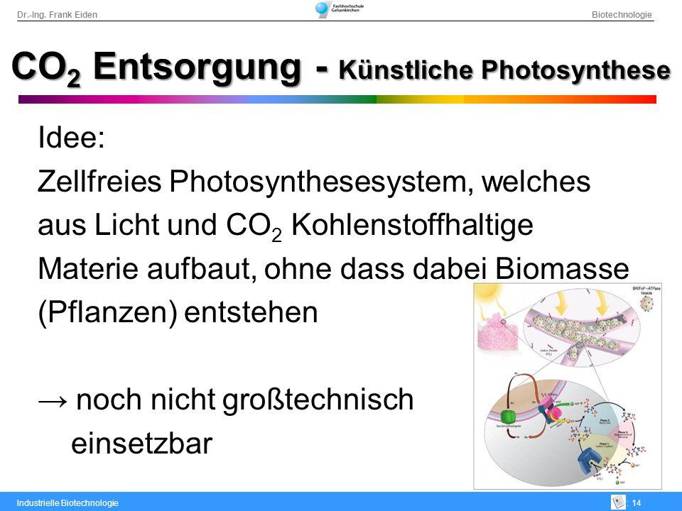 CO2 Entsorgung - Künstliche Photosynthese