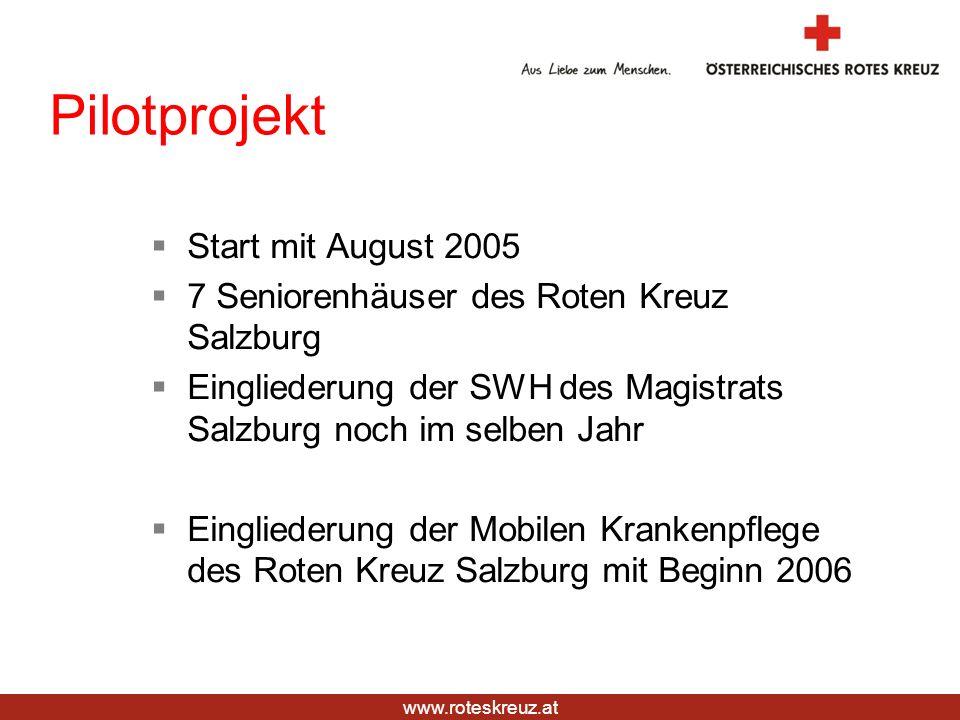 Pilotprojekt Start mit August 2005