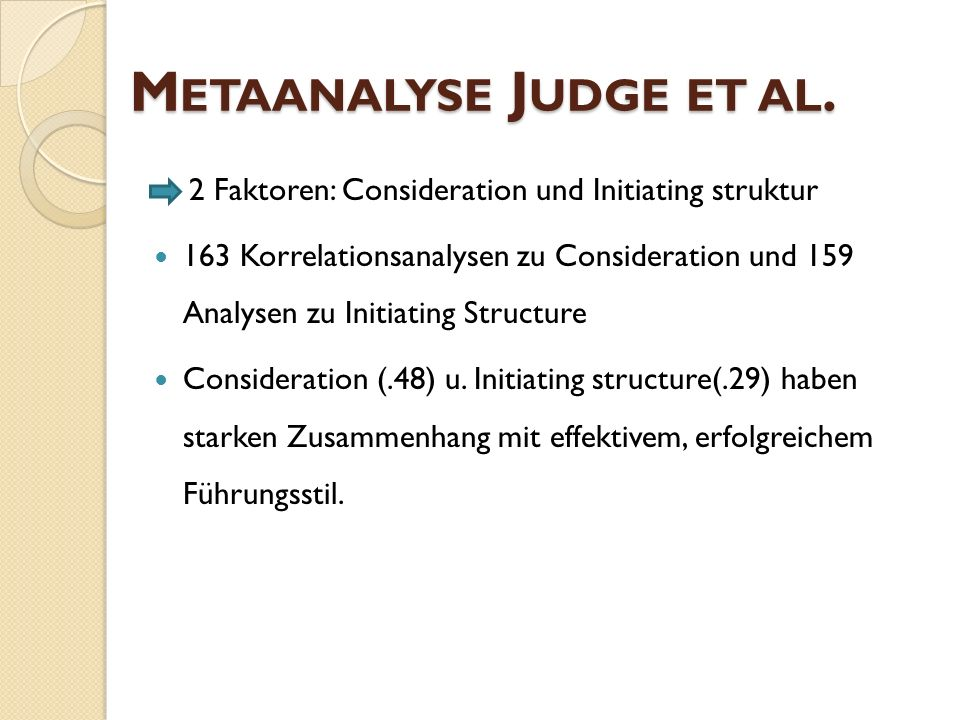 Metaanalyse Judge et al.