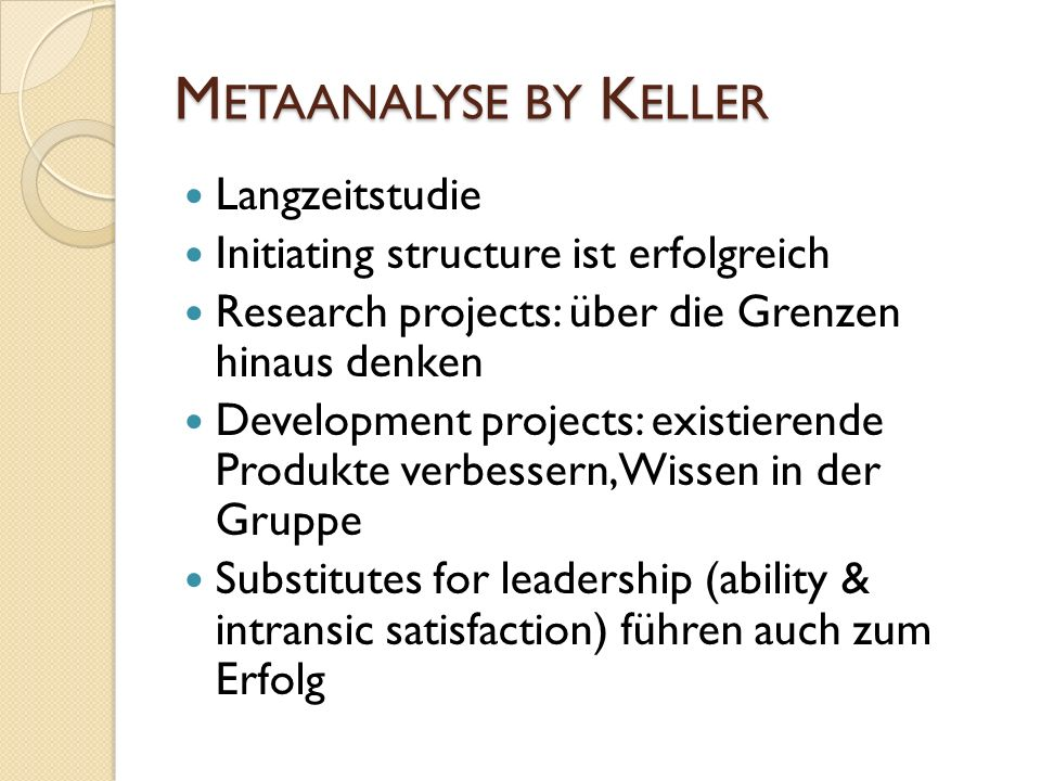 Metaanalyse by Keller Langzeitstudie
