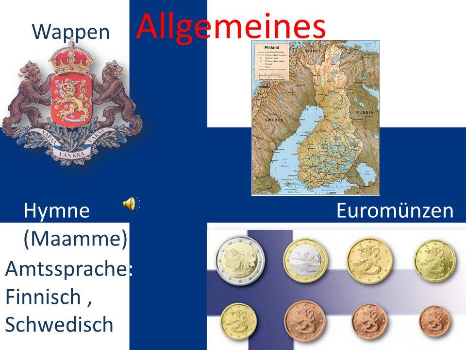 Allgemeines Wappen Hymne (Maamme) Euromünzen