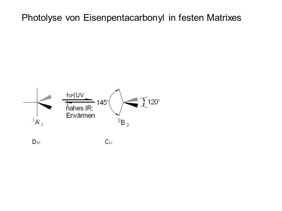 Photolyse von Eisenpentacarbonyl in festen Matrixes