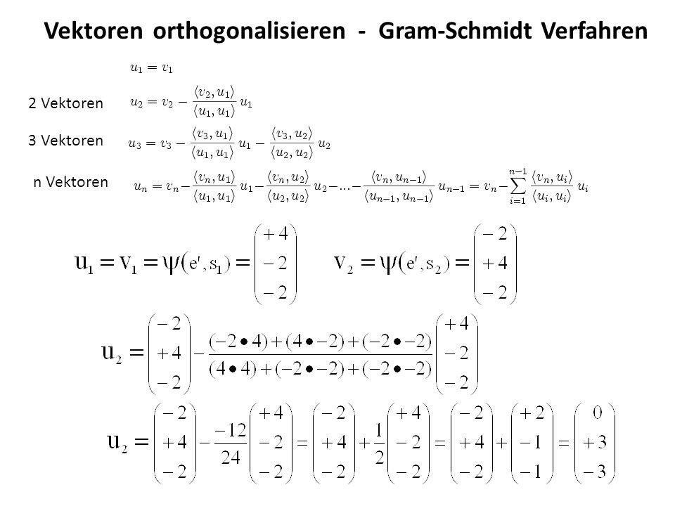 Vektoren orthogonalisieren - Gram-Schmidt Verfahren