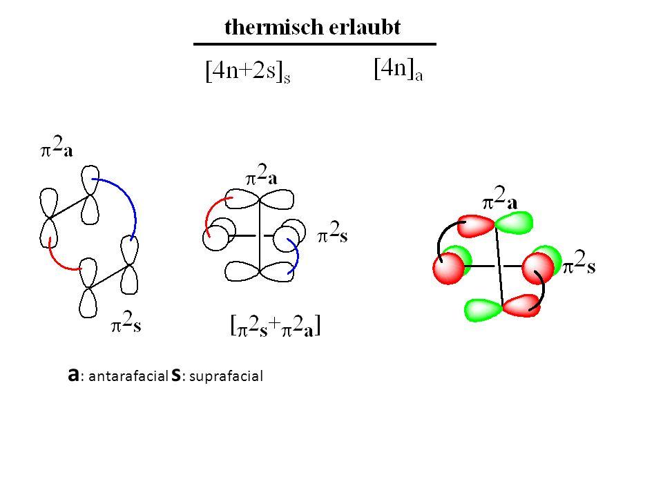 a: antarafacial s: suprafacial