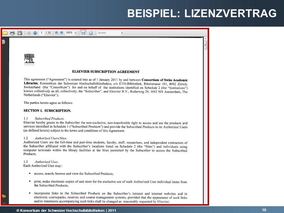 Beispiel: lizenzvertrag