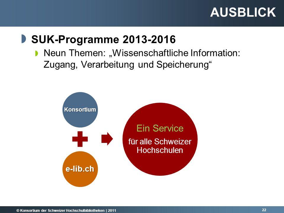 für alle Schweizer Hochschulen