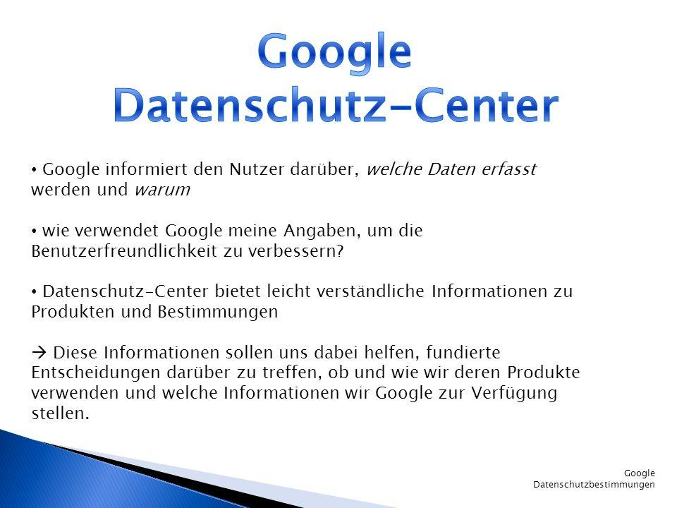 Google Datenschutz-Center