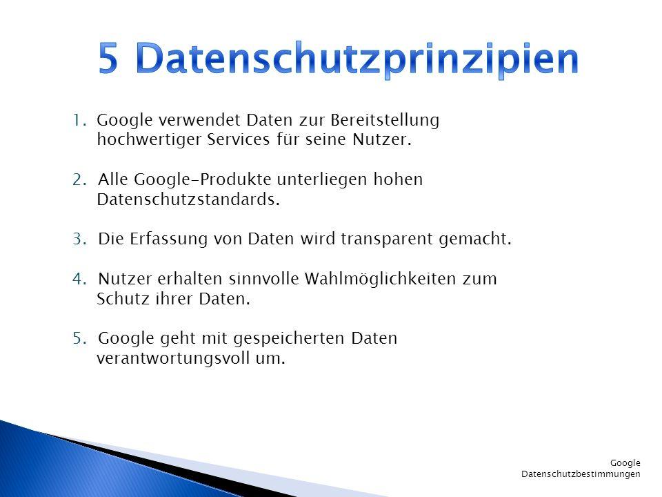 5 Datenschutzprinzipien