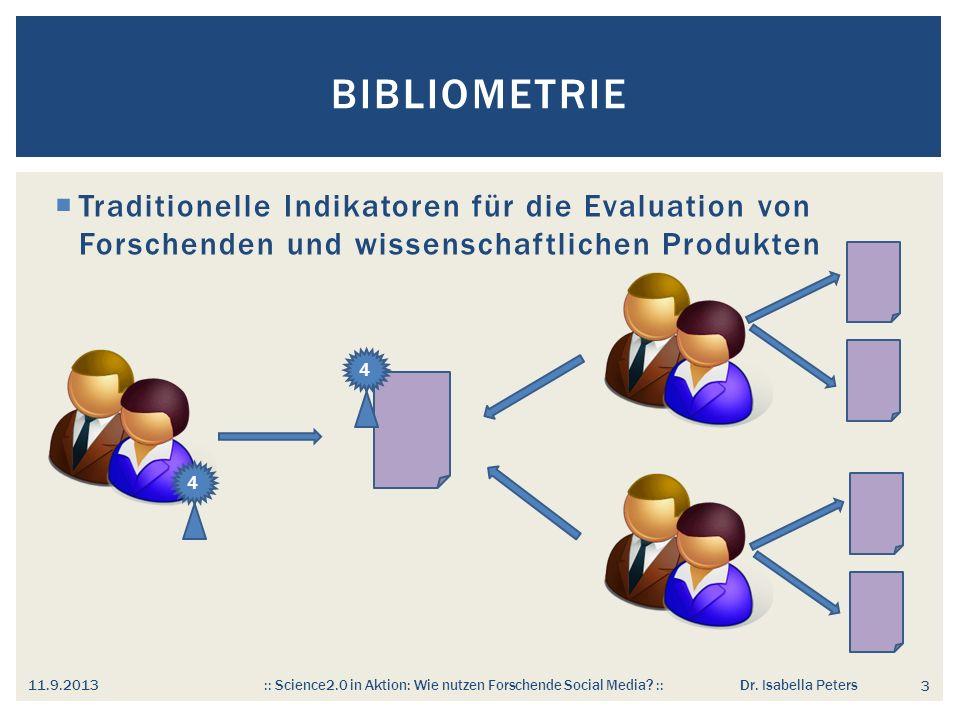 Bibliometrie Traditionelle Indikatoren für die Evaluation von Forschenden und wissenschaftlichen Produkten.