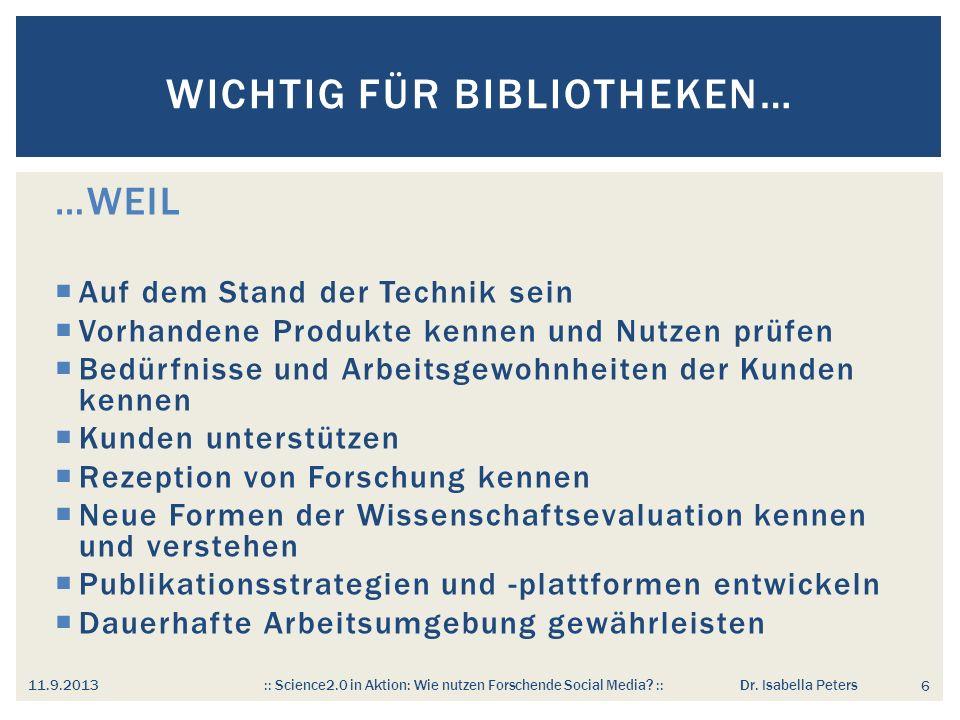 Wichtig für Bibliotheken…