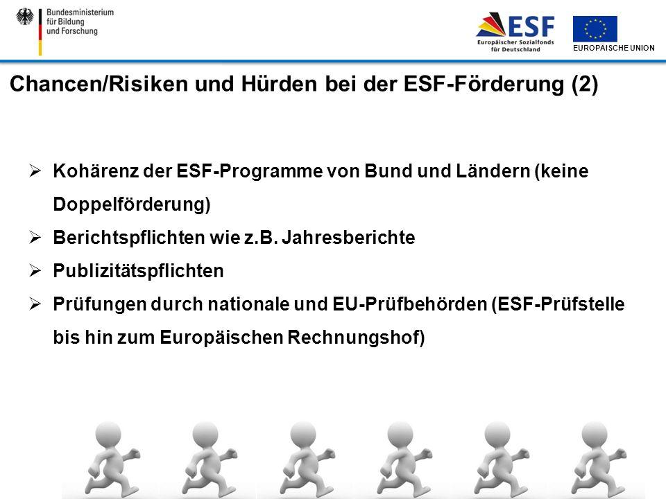 Chancen/Risiken und Hürden bei der ESF-Förderung (2)