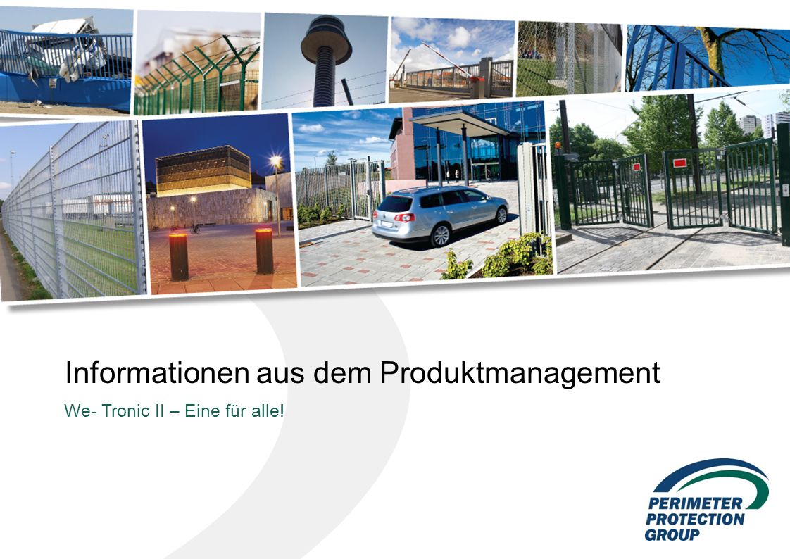 Informationen aus dem Produktmanagement