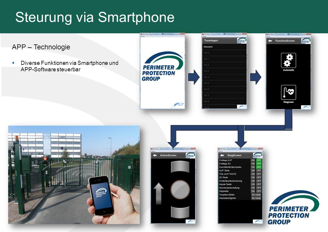 Steurung via Smartphone