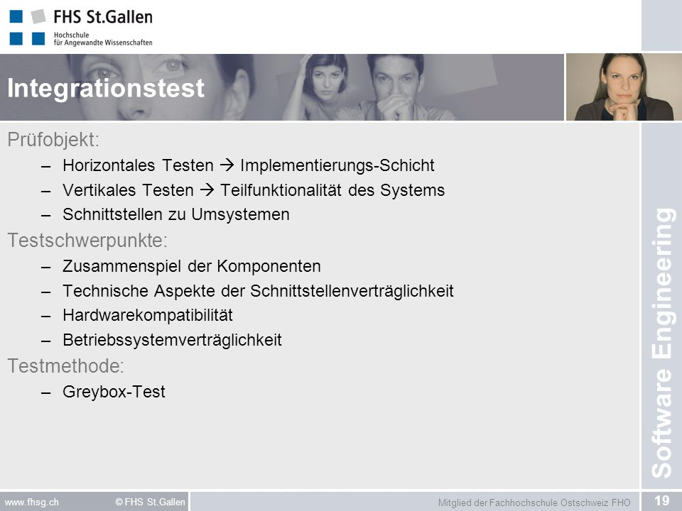 Integrationstest Prüfobjekt: Testschwerpunkte: Testmethode: