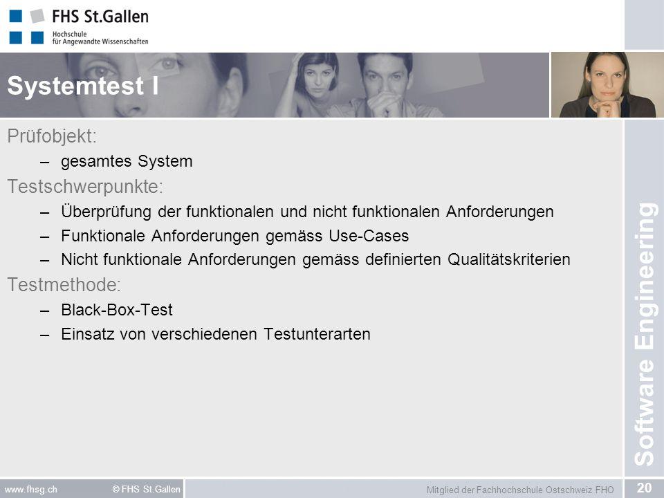 Systemtest I Prüfobjekt: Testschwerpunkte: Testmethode: