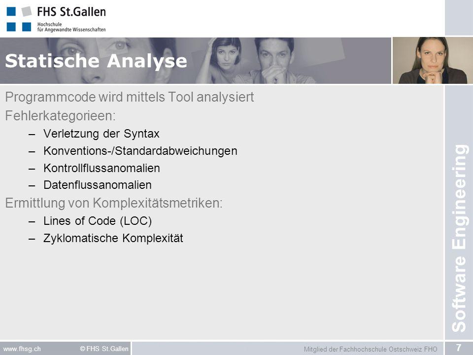 Statische Analyse Programmcode wird mittels Tool analysiert