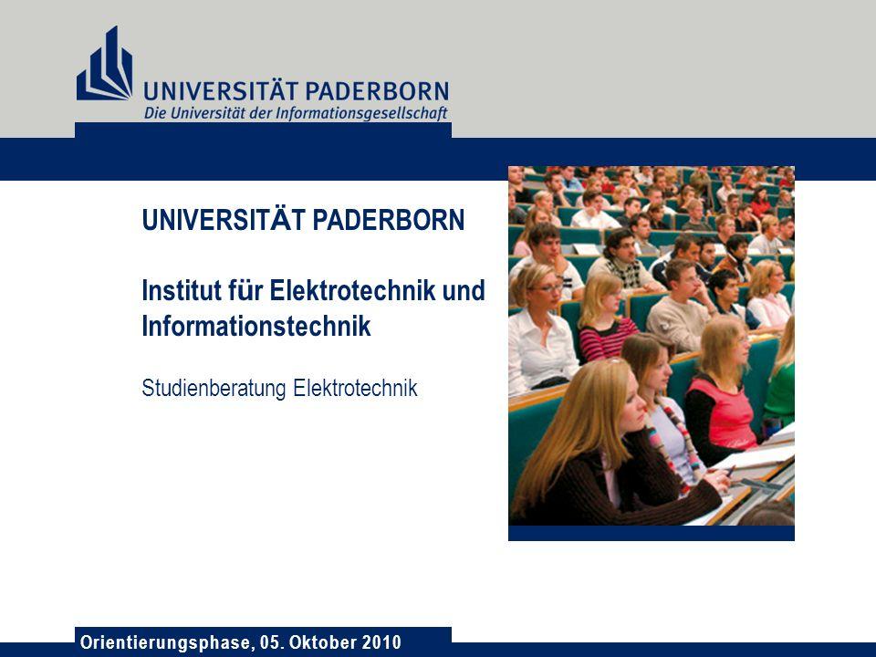 UNIVERSITÄT PADERBORN Institut für Elektrotechnik und