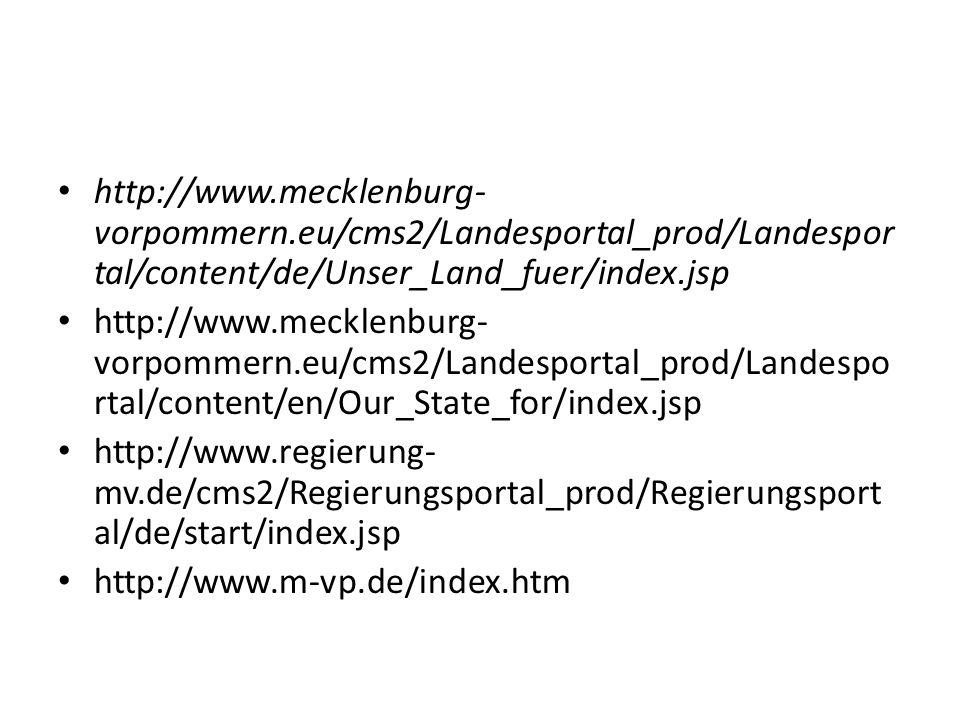 http://www. mecklenburg-vorpommern
