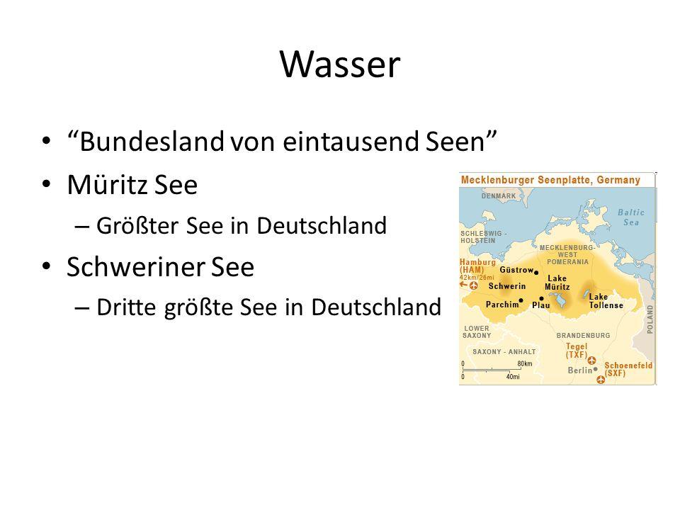 Wasser Bundesland von eintausend Seen Müritz See Schweriner See