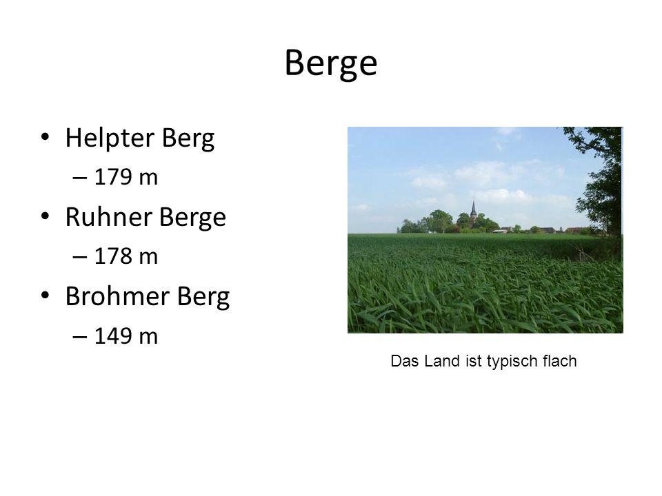 Berge Helpter Berg Ruhner Berge Brohmer Berg 179 m 178 m 149 m