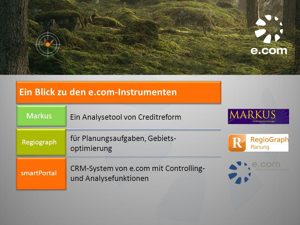 Ein Blick zu den e.com-Instrumenten