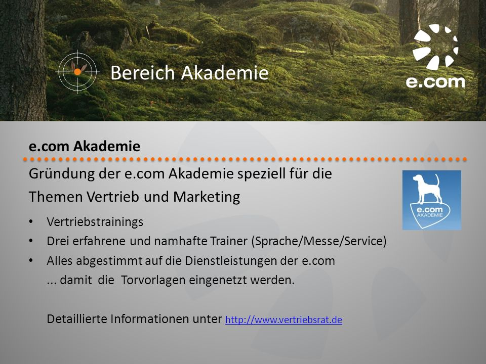 Bereich Akademie e.com Akademie
