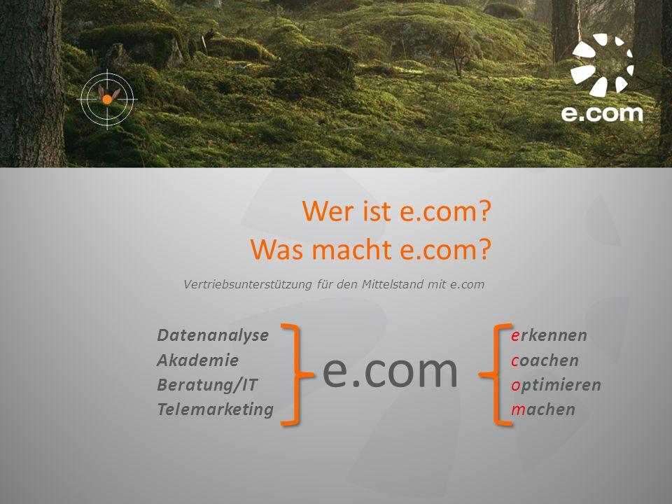 e.com Wer ist e.com Was macht e.com Datenanalyse Akademie