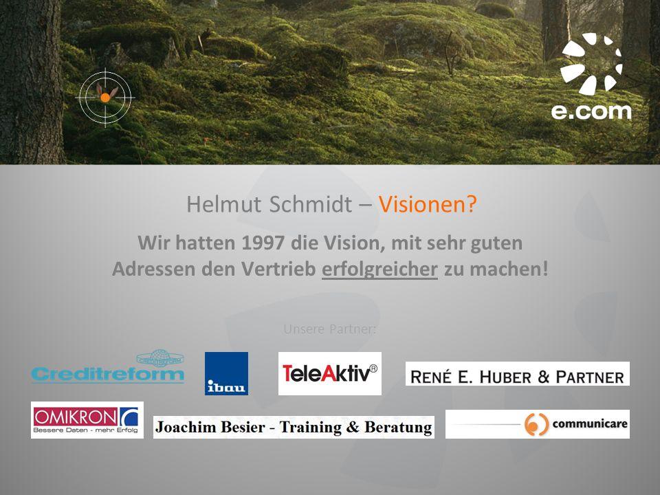 Helmut Schmidt – Visionen