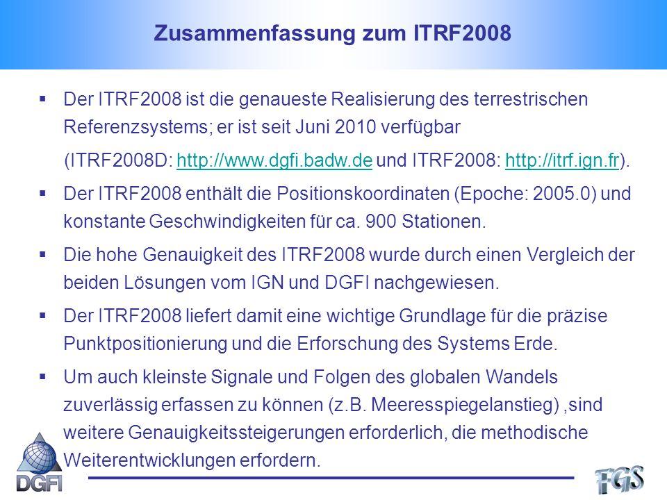 Zusammenfassung zum ITRF2008