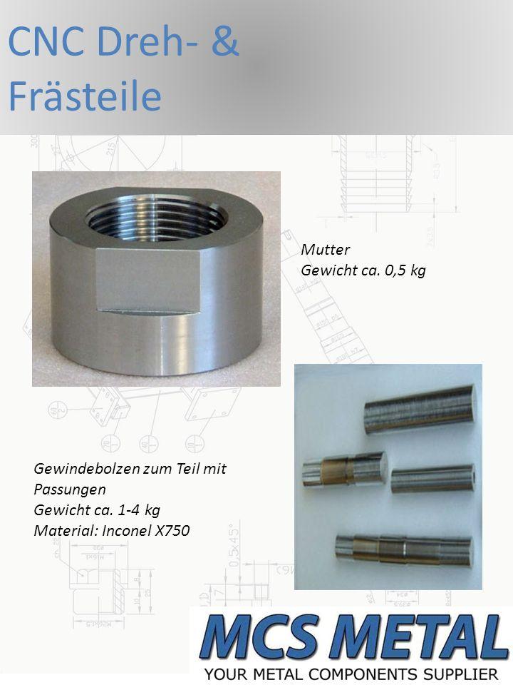 CNC Dreh- & Frästeile Mutter Gewicht ca. 0,5 kg