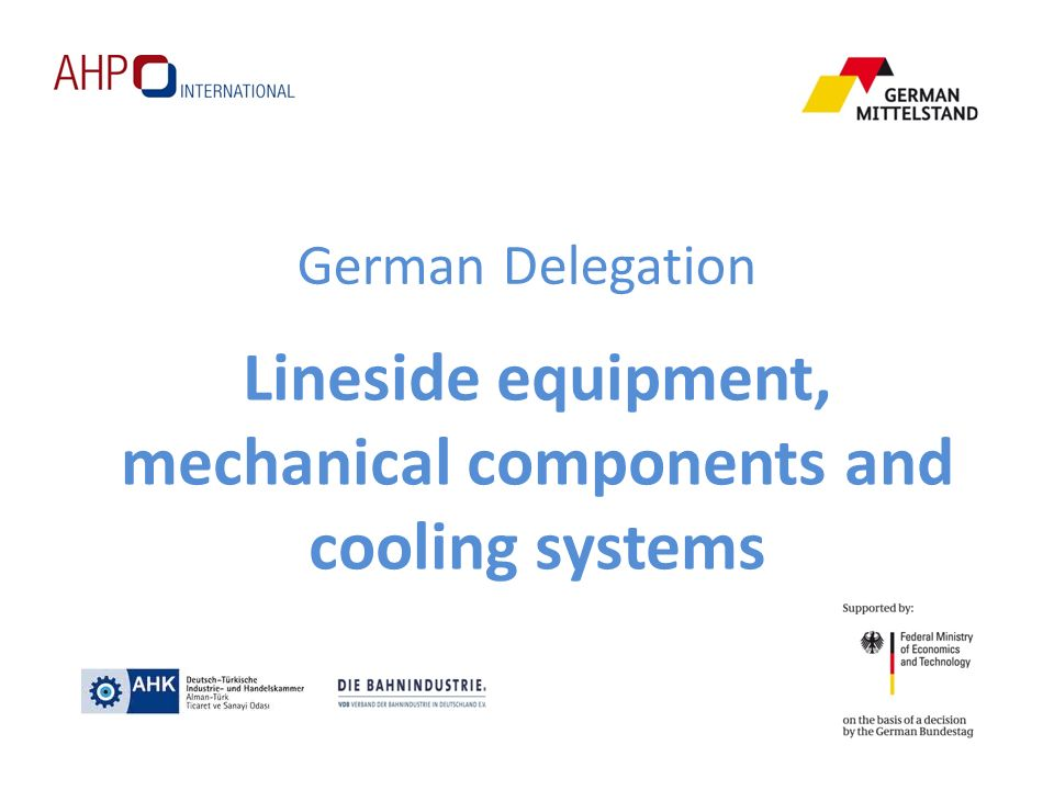 Lineside equipment, mechanical components and cooling systems