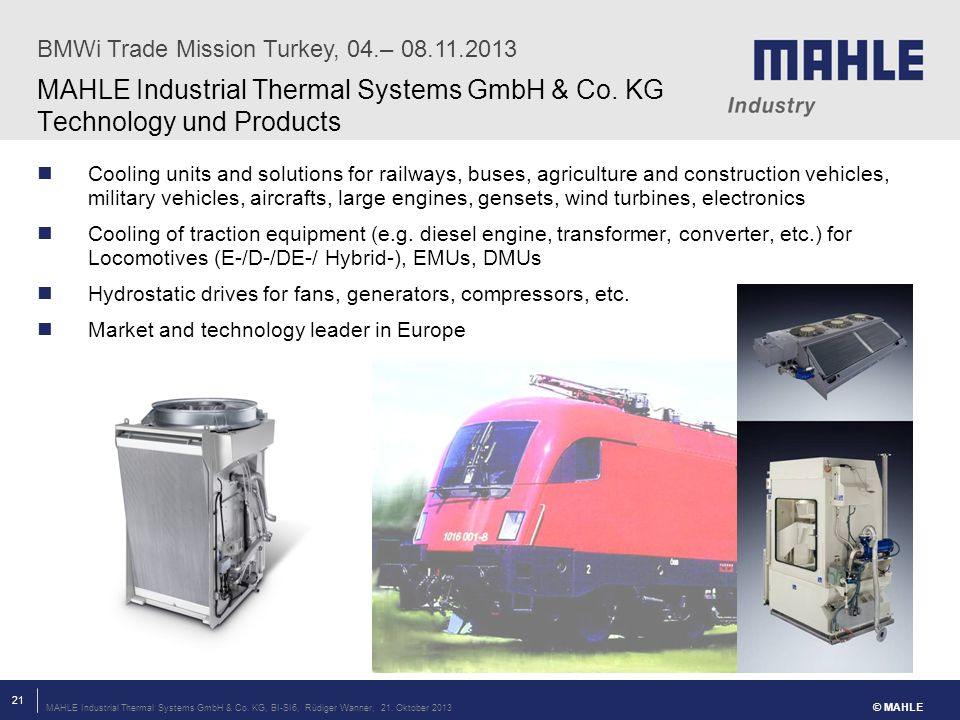 MAHLE Industrial Thermal Systems GmbH & Co. KG Technology und Products