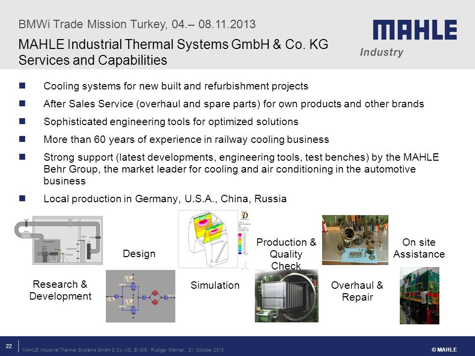 BMWi Trade Mission Turkey, 04.– 08.11.2013