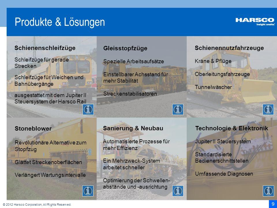 Produkte & Lösungen Schienenschleifzüge Gleisstopfzüge