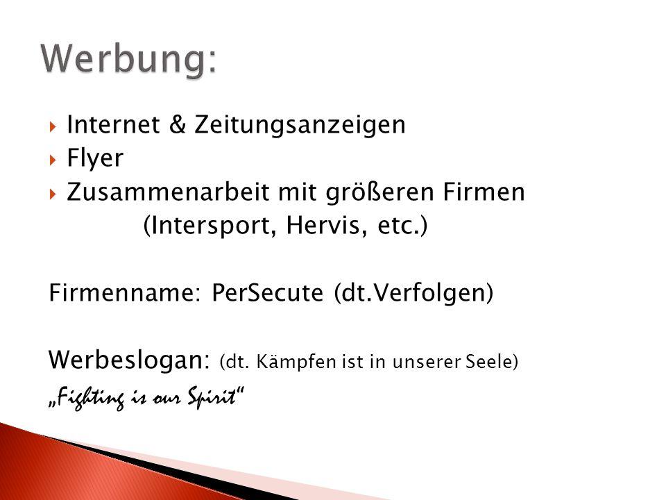 """Werbung: """"Fighting is our Spirit Internet & Zeitungsanzeigen Flyer"""