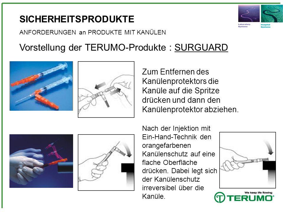 Vorstellung der TERUMO-Produkte : SURGUARD