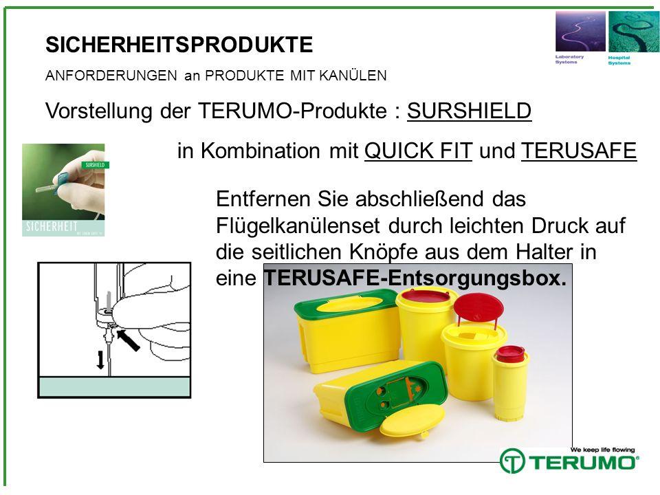 Vorstellung der TERUMO-Produkte : SURSHIELD