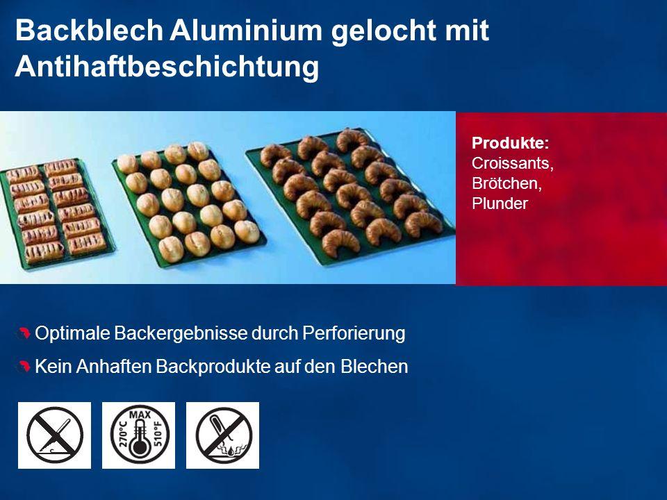 Backblech Aluminium gelocht mit Antihaftbeschichtung