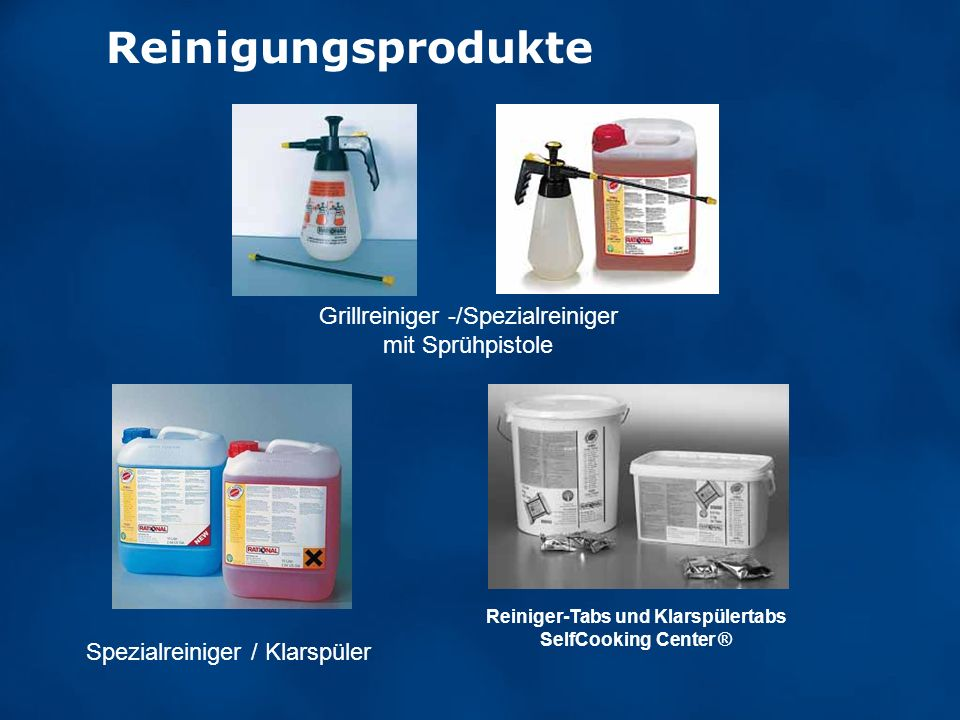 Reiniger-Tabs und Klarspülertabs SelfCooking Center ®